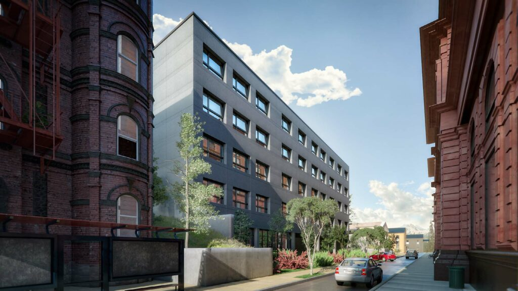3D Render of Miller Street Apartments Project