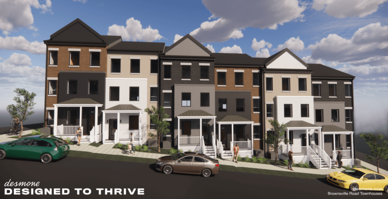 3D Render of Brownsville Road Town Homes Project