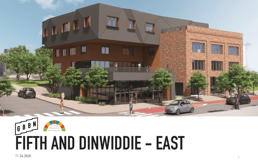 3D Render of Fifth & Dinwiddie East Project