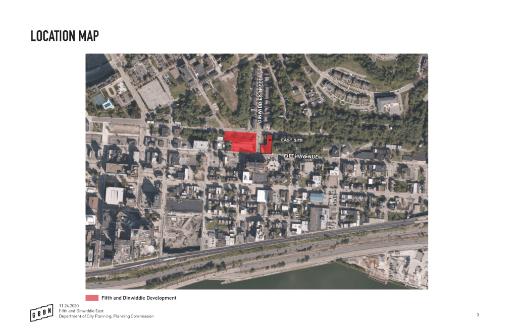 Map of Fifth & Dinwiddie East Project Location