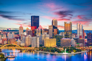 View of Pittsburgh in the Evening