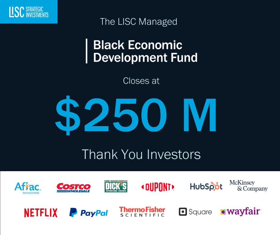 LISC's Black Economic Development Fund hits $250 million goal