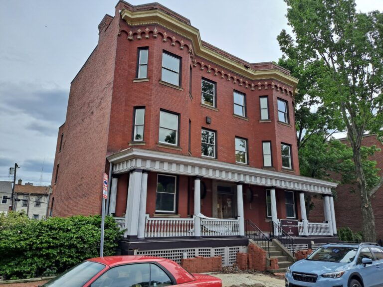 Sheffield Apartments in Manchester is a brick historic building rehabilitation.